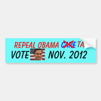 Repeal Obamacare Tax Bumper Sticker