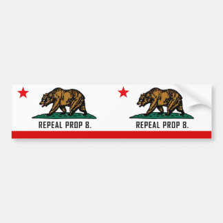 Repeal Prop 8 - California Double Bear Bumper Sticker