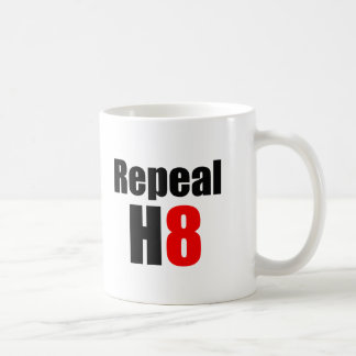 REPEAL PROP 8 / REPEAL H8 CLASSIC WHITE COFFEE MUG