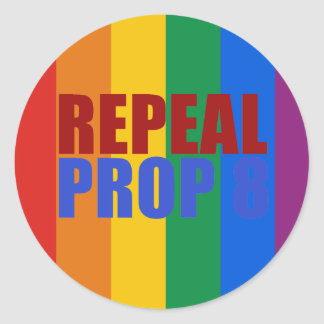 REPEAL PROP 8 ROUND STICKERS