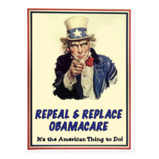 Repeal & Replace Obamacare Postcard