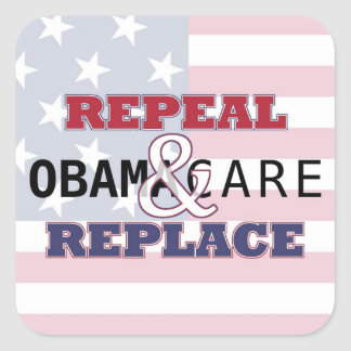 Repeal & Replace Square Sticker