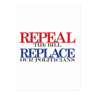 repeal & replace t-shirt postcard