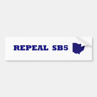 Repeal SB5 blue bumper Bumper Sticker