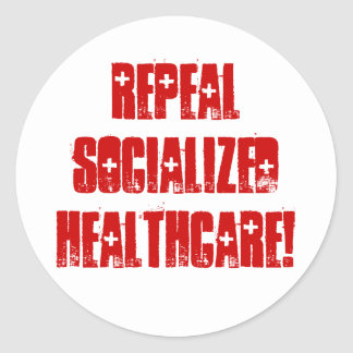 Repeal Socialized Healthcare Classic Round Sticker