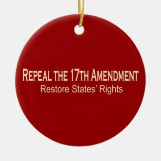 Repeal the 17th Amendment Ornament