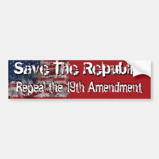 Repeal the 19th bumper sticker