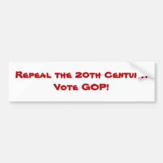 Repeal the 20th Century bumper sticker Car Bumper Sticker