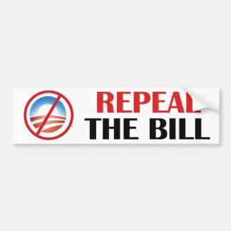 Repeal The Bill Bumpersticker Car Bumper Sticker
