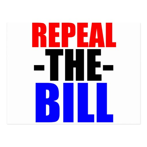 Repeal The Bill Post Card