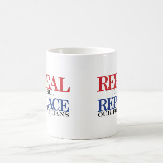 REPEAL the bill REPLACE our politicians Classic White Coffee Mug