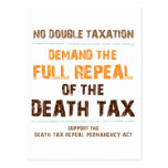 Repeal The Death Tax Post Cards