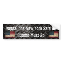Repeal The New York Safe Act Cuomo Must Go! Bumper Sticker