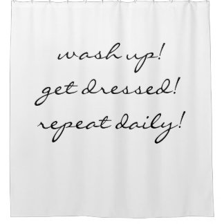 repeat daily shower curtain