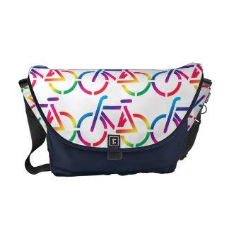 Repeat Pattern Rainbow Bicycle Bag