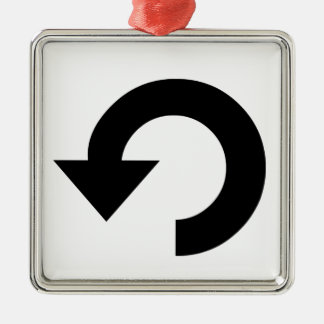 Repeat Symbol Metal Ornament