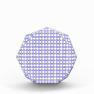 Repeated Pattern -Blue Diamond Pastel Purple Base Acrylic Award