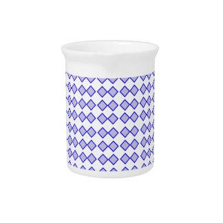 Repeated Pattern -Blue Diamond Pastel Purple Base Beverage Pitcher