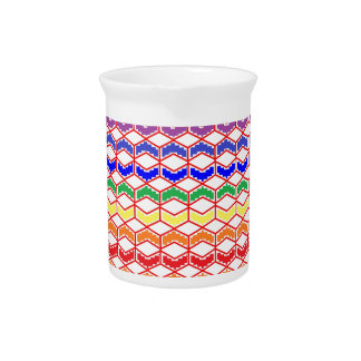 Repeated Patterns Rainbow Beverage Pitcher