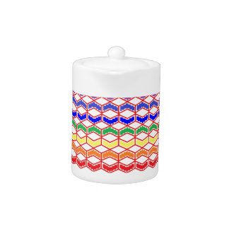 Repeated Patterns Rainbow Teapot