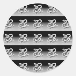 Repeating 2012 classic round sticker