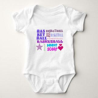 Repeating Basketball Baby Bodysuit