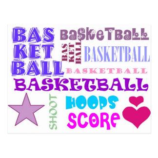 Repeating Basketball Postcard