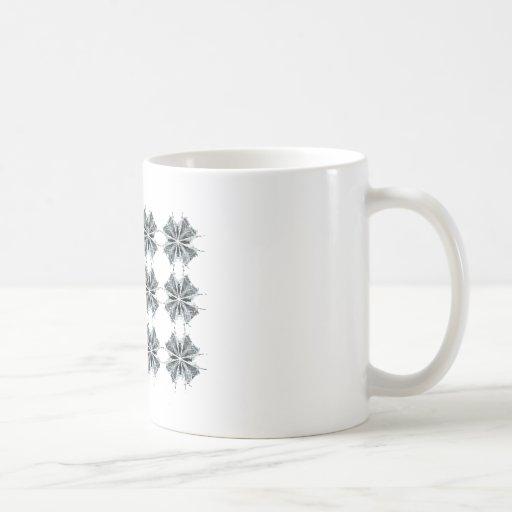 Repeating Black & White Fractal Art Design Classic White Coffee Mug
