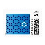 Repeating Blue Jewish Star Postage