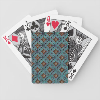 Repeating Celtic Knot Playing Cards (Brown/Blue)