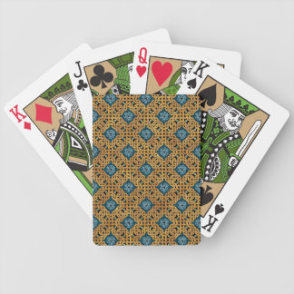 Repeating Celtic Knot Playing Cards (Gold/Blue)
