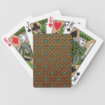 Repeating Celtic Knot Playing Cards (Gold/Green)