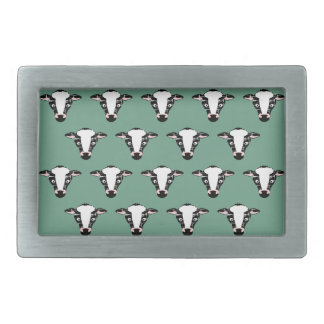 Repeating Cow Face Pattern Belt Buckle