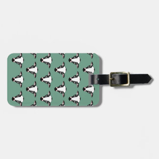 Repeating Cow Face Pattern Tags For Bags