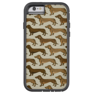 Repeating Dachshunds Pattern iPhone Case Tough Xtreme iPhone 6 Case
