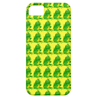Repeating Green and Yellow Angry Frog iPhone SE/5/5s Case