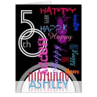 Repeating Happy 50th Birthday XXL 18x24 greeting Card
