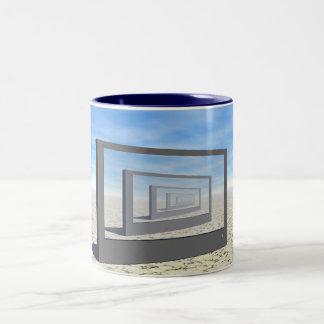 Repeating Monitor Two-Tone Coffee Mug
