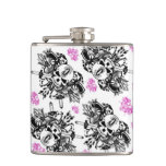 Repeating O'Kane Logo Flask (Black & Pink)