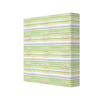 Repeating pattern Colorful lists blue, green and p Gallery Wrap Canvas