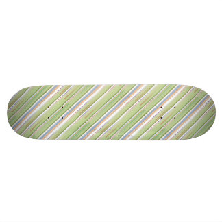 Repeating pattern Colorful lists blue, green and p Skateboard