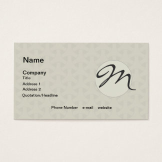 Repeating Pattern Wicker Geometric Business Card