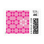 Repeating Pink and White Jewish Stars Postage Stamps