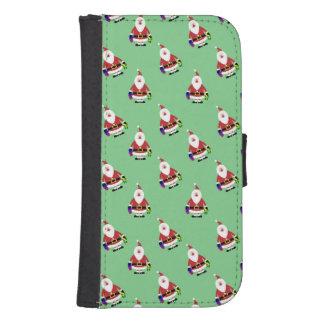 Repeating Santa Phone Wallet Case