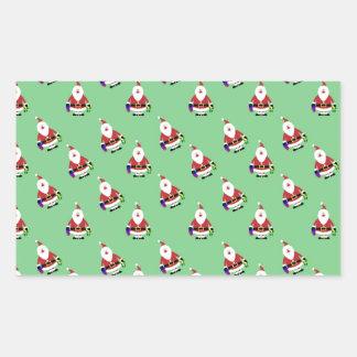 Repeating Santa Stickers