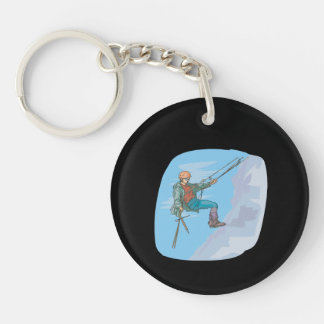 Repelling Single-Sided Round Acrylic Keychain
