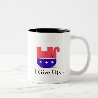 repelph, doy para arriba… taza de café de dos colores