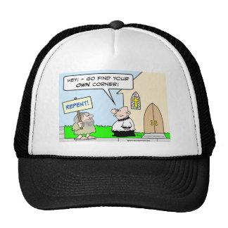 repent church own find corner religion trucker hat