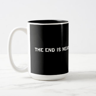 Repent or Die...The End is Near Design Two-Tone Coffee Mug