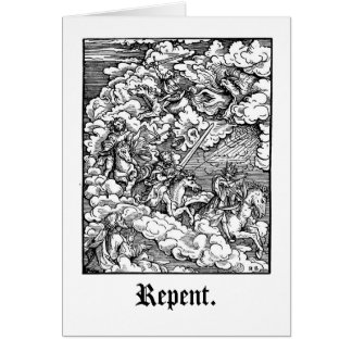 Repent, sinner. card